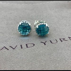 David Yurman Chatelaine Earrings with Blue Topaz